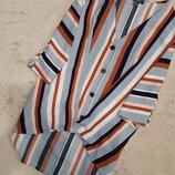 Блузка в полоску свободный стиль размер 18-20 3-4XL primark