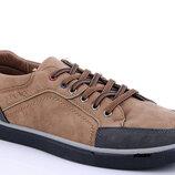 Мужские кроссовки коричневые Dual