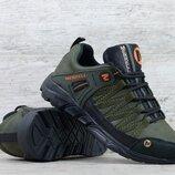 Мужские кожаные кроссовки М-4 хаки