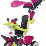 Велосипед детский Smoby Toys Беби Драйвер металлический розовый 741201