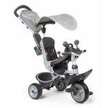 Детский велосипед Smoby Комфорт, козырек и багажник, Серый 741202