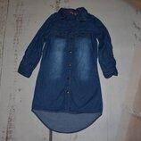 Джинсовое платье рубашка Y.D. на 4-5 лет