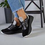 код 5218-1 Женские кроссовки размеры 36-40 материал натуральная замша кожа цвет серый черный вн