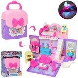 Кукольный домик чемодан pony, домик сумочка для фигурок пони и кукол типа lol 901-663