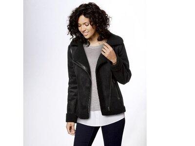 Куртка дубленка косуха 38 euro, эко-замш Esmara, Германия, демисезон