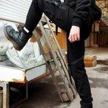 Штаны PUNCH - Cargo Stripe, Black брюки карго черные унисекс