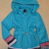 Демисезонная куртка детская, удлиненная куртка для девочек на легком синтепоне,рост 128-152