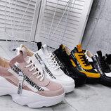 4338 Стильные кроссовки из натурального замша и кожи 36-40 р 6 цветов