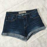 Стильные короткие шорты джинсовые шортики с потертостями с закотом
