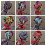 Букеты из пряников, цветы, наборы на 8 марта, день рождения