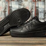 Кроссовки Nike Air, черные , унисекс, кожа, 36,37,38,39,40,41 размер, дышащие