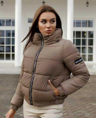 Куртка женская силикон 200 стильная чёрный, кофе с молоком, жёлтый, нежно-розовый, голубой, молоко