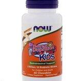 Now Foods. Детский пробиотик, 2 млрд, 60 шт. Сша