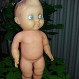 Кукла с хохолком Rosebud 25 см Розебуд Англия 1950-е резиновая куколка
