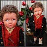 Кукла Мальчик во фраке Schildkrоt,25 см национальный наряд.Черепашка Шильдкрет 1950 г