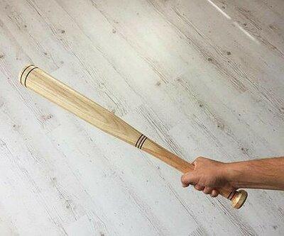 Бита деревянная бейсбольная Бук 80см.