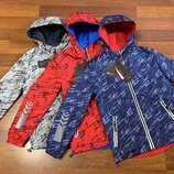 Ветровка-Куртка HV-ЕХР 79 двухсторонняя на мальчика рост 140-164