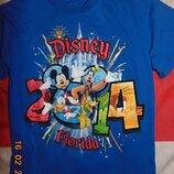 Стильная катоновая фирменная футболка бренд Disney Дисней .5-7 лет