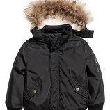 Теплая куртка H&M. Размер 9-10л, 140р