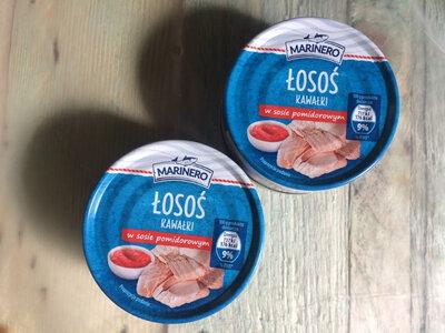 Лосось кусочками в томатном соусе Marinero 150гр. Польша
