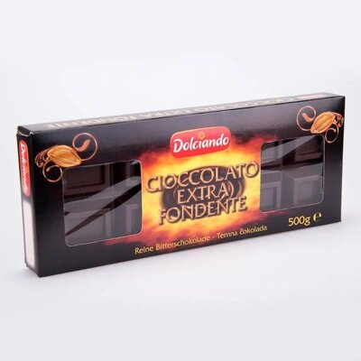 Шоколад Dolciando 500g Чёрный Cioccolato Extra Fondente, Италия