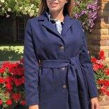 Удобное теплое кашемировое пальто размеры 48-58