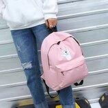 Рюкзак розовый однотонный принт рука коза рок хэви металл heavy metal унисекс
