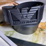 Кожаный мужской ремень в стиле Armani, Армани 4 см ширина