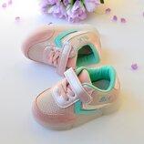 Розовые кроссовки со светящей подошвой