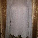 Стильная женская трикотажная кофта, блузка, джемпер с разрезом на спине Zara Knit