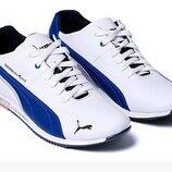 Мужские кожаные кроссовки Puma BMW MotorSport белые