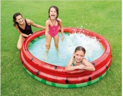 Бассейн 58448 Арбуз. Надувной бассейн. Детский Бассейн. Дитячий басейн. Intex Интекс .