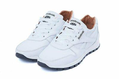 Мужские кожаные кроссовки Reebok Classic White белые