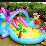 Игровой центр 57135. Детский Бассейн. Дитячий басейн. Надувной бассейн. аквапарк. Intex