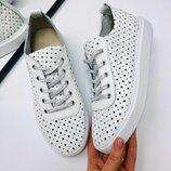 Вт669168 Белые кроссовки кеды натуральная кожа