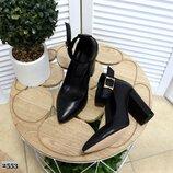 Туфли с ремешком на устойчивом каблуке