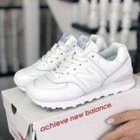 Красивые женские белые кроссовки New Balance, р. 36-41, SF9037
