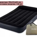 Велюр матрас 64141. Надувной Матрас. Intex Интекс