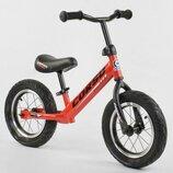 Беговел, велобег CORSO 71860 стальная рама, колесо 12« надувные колёса