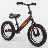 Беговел, велобег CORSO 42812 стальная рама, колесо 12« надувные колёса