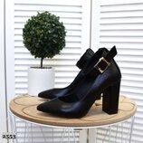 код 2553 Туфли LUXOR-2 с ремешком на устойчивом каблуке, р. 35 - 40
