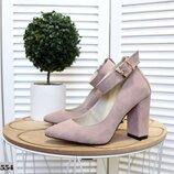 код 2554 Туфли LUXOR-2 с ремешком на устойчивом каблуке, р. 35 - 40