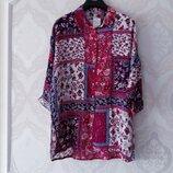 Размер 12-14 Новая шикарная фирменная натуральная блузка туника