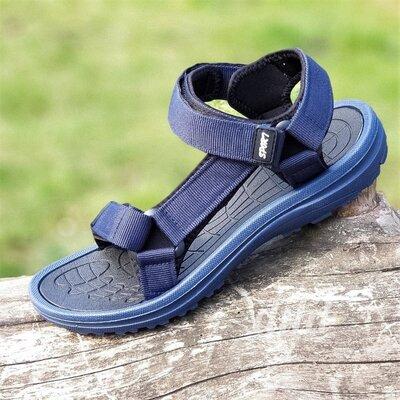 Босоножки сандалии мужские синие на липучках Restime - чоловічі босоніжки сандалі сині