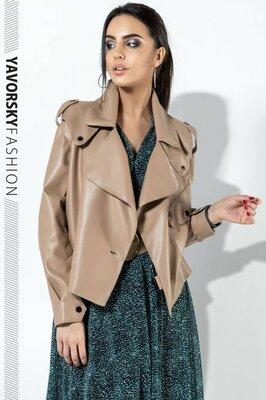 Стильная курточка экокожа,6 цветов