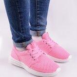 Женские кроссовки Темно розовые Светло розовые Синие Красные