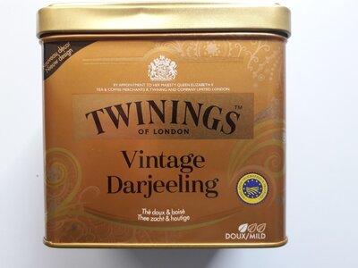 Премиум Чай TWININGS Darjeeling Vintage Дарджилинг Винтаж 180 г жб