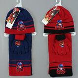Комплект шапка шарф перчатки Disney Размер One Size