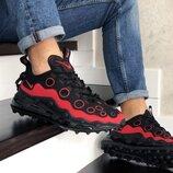 Nike Air Max 720 ISPA кроссовки мужские демисезонные черные с красным 9047