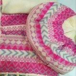 Набір шапка та шарф для дівчинки, шапка, шарф, берет, стан хороший, комплект шапка шарф